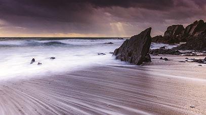 Small JANUARY Geoffrey Adams Stormy Seas, Ayrmer Cove, South Devon Plymouth