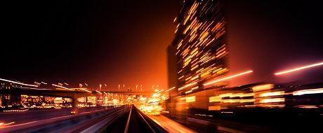 Blurred motion train image