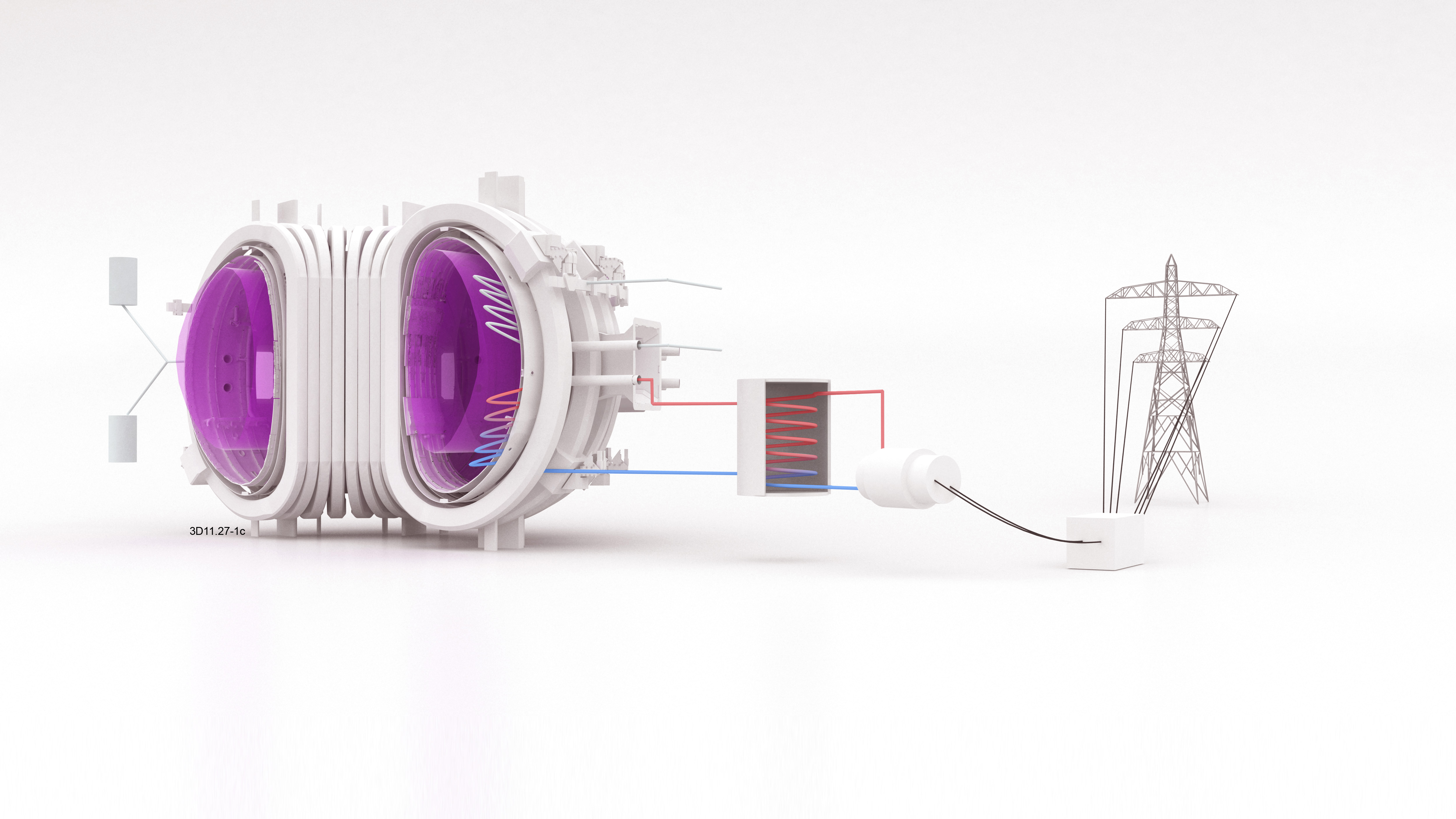 Schematic diagram of fusion power plant